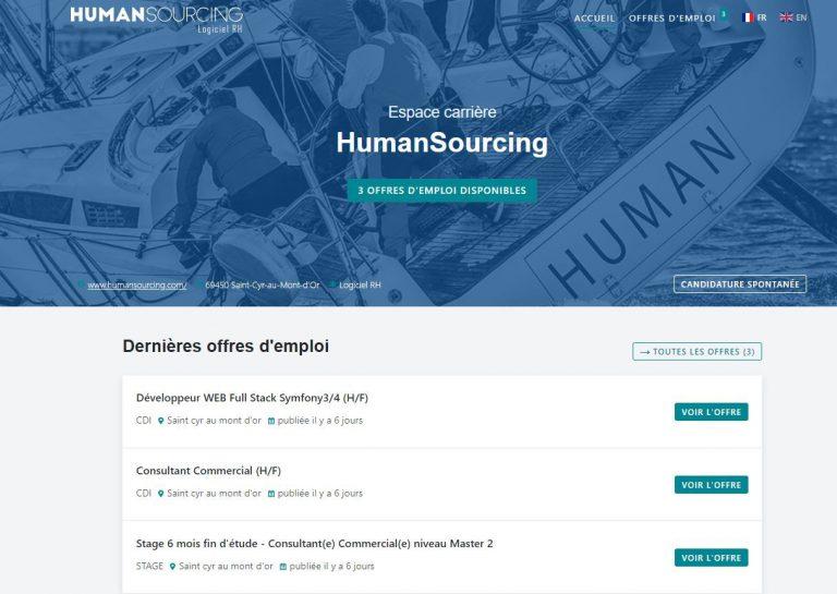 Portail RH de HumanSourcing