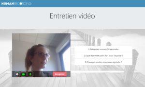 Entretien video différé HumanSourcing